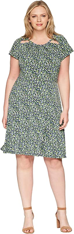 Plus Size Tiny Wildflower Dress