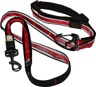 Kurgo 6 in 1 Hands Free Dog Leash |Reflective Running Belt Leash for Dogs |Crossbody & Waist Belt Leash |Carabiner Clip |P...