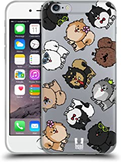 Head Case Designs Pomeranian Dog Breed Patterns Soft Gel Case Compatible for iPhone 6 / iPhone 6s