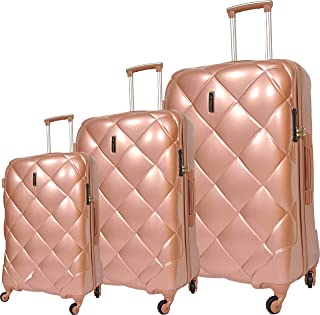 Track Trolley Bags , Set of 3 Pieces , Rose Gold , 9319/3P