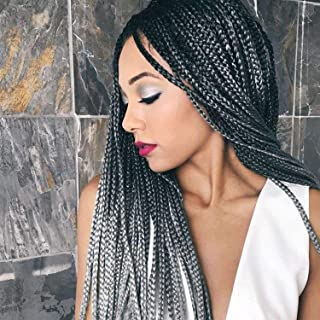 black and gray crochet hair