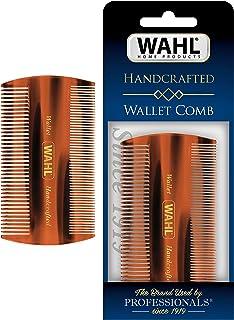 Wahl Pente de carteira para barba e bigode para cuidados masculinos – feito à mão e cortado à mão com acetato de celulose ...
