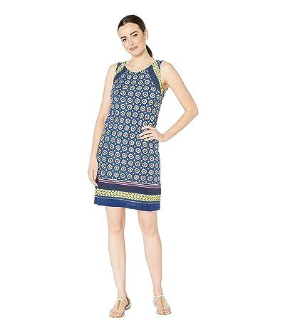 Tribal Printed Jersey A-Line Dress w/ Pockets (Lime) Women