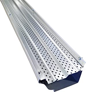 FlexxPoint High Clearance 30 Year Gutter Cover System, Matte Aluminum 5