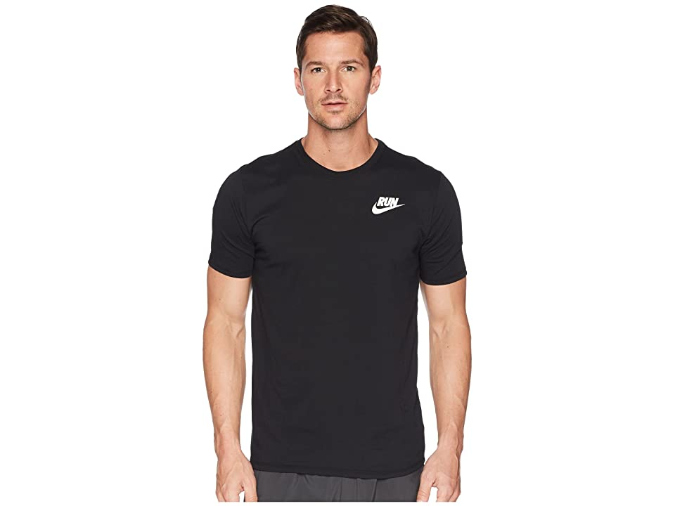 Nike Dry Tee Dri-FITtm Solid Swoosh 18 (Black/White) Men