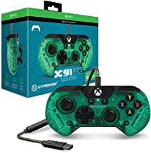 Hyperkin X91 Ice Wired Controller for Xbox One/ Windows 10 PC (Aqua Green) - Officially Licensed By Xbox - Xbox One
