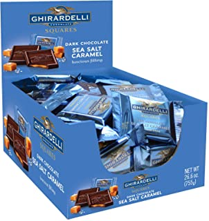 Ghirardelli Dark & Sea Salt Caramel Chocolate Squares, 0.53 Ounce, 50 count