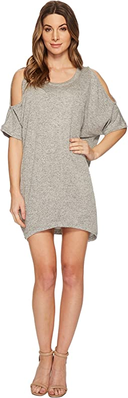 Cold Shoulder French Terry Dress