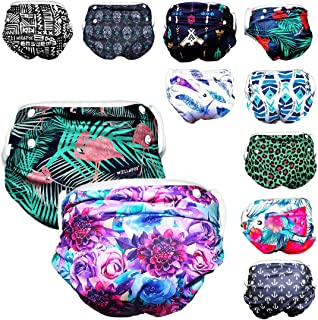 Will & Fox Reusable Swim Diaper Baby Girl Boy Adjusts for 3 Months - 3 Years