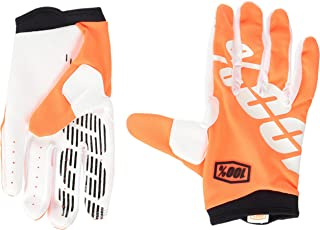100% ITRACK Adult Leather/Textile Off-Road Motorcycle Gloves - Cal-Trans/Orange/Medium