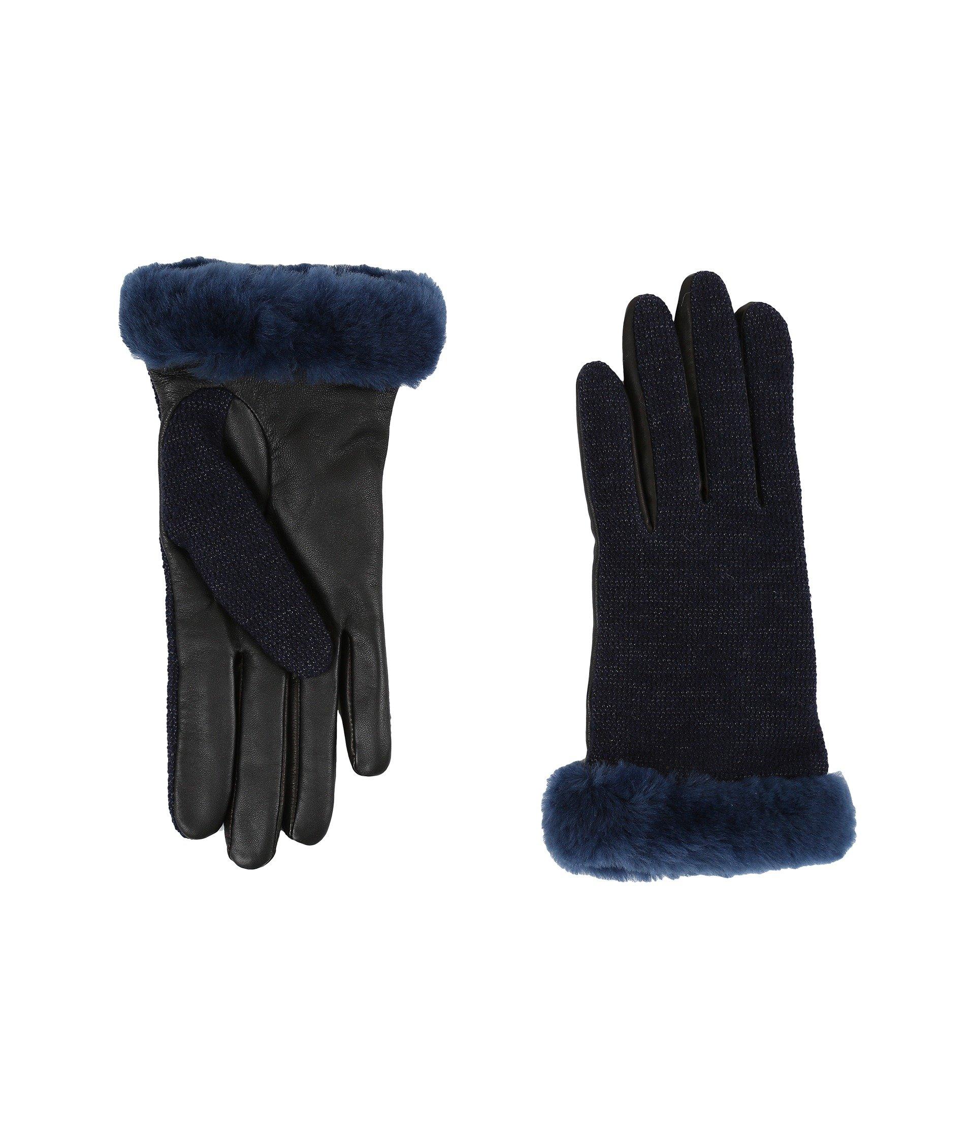 Guantes para Mujer UGG Shorty Smart Fabric Gloves w/ Short Pile Trim  + UGG en VeoyCompro.net