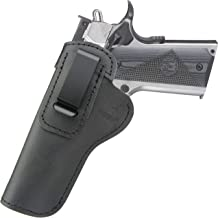 IWB Leather Holster Fits:1911 Pistols Government (5 inch)-Commander (4.25 inch)-Kimber-Colt-S&W-Sig Sauer-Remington-Ruger More-Sig p210-Concealed Carry Inside The Waist Band