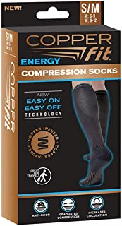 Copper Fit Unisex Compression Sock, Choose Size and Pairs