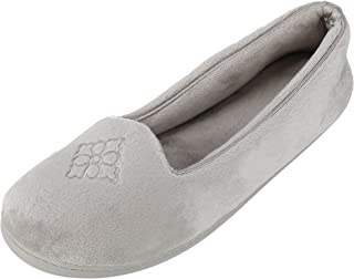 Dearfoams Women's Rebecca Microfiber Velour Slipper