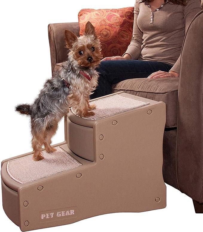 Robluee Plegable y Lavable Juguete de Entrenamiento para Perros peque/ños Escalera de 2 pelda/ños para Perro