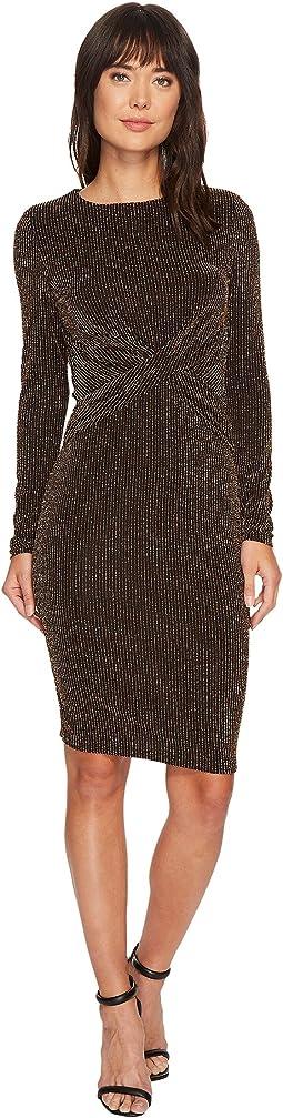 Twist Waist Long Sleeve Dress