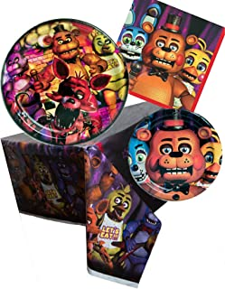 Five Nights at Freddy's Birthday Party Bundle Set for 16 guests – Plates, Napkins, Table Cover