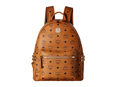 MCM Stark Side Stud Small Backpack (Cognac) Backpack Bags