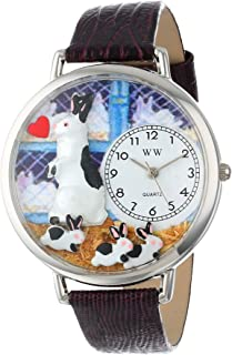 Whimsical Watches Unisex U0110017 Bunny Rabbit Purple Leather Watch