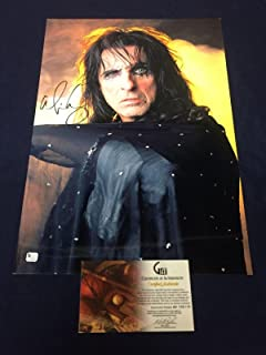 Alice Cooper Rock Singer School's Out Signed Autograph Large 13x19 Photo COA