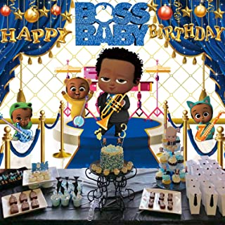 Boss Baby Backdrop   Birthday   African American Boy   Black   Party Supplies   Banner Photography Background Decorations