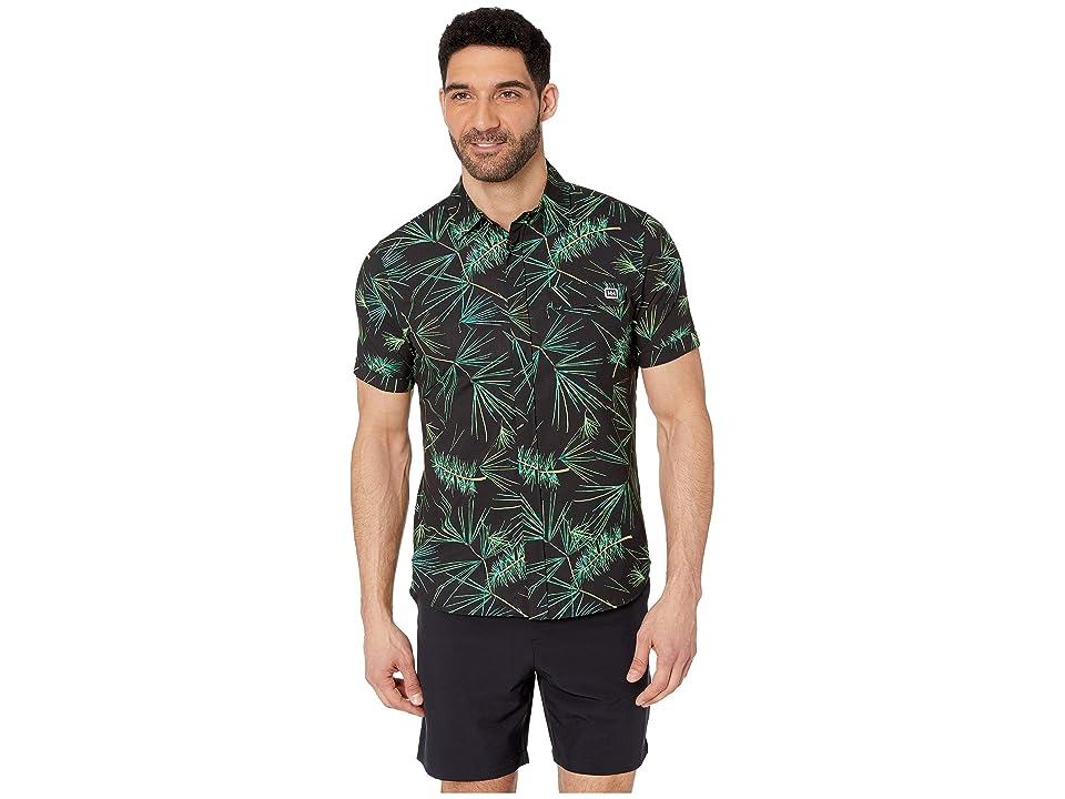 Helly Hansen Oya Short Sleeve Shirt (Ebony Print) Men