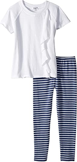 Stripe Leggings Set (Little Kids)