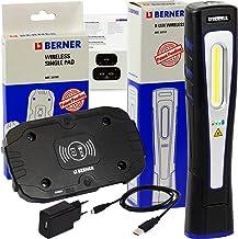 Berner X-Lux draadloze led-werkplaatslamp inclusief inductie oplaadpad, extreem sterke helderheid!