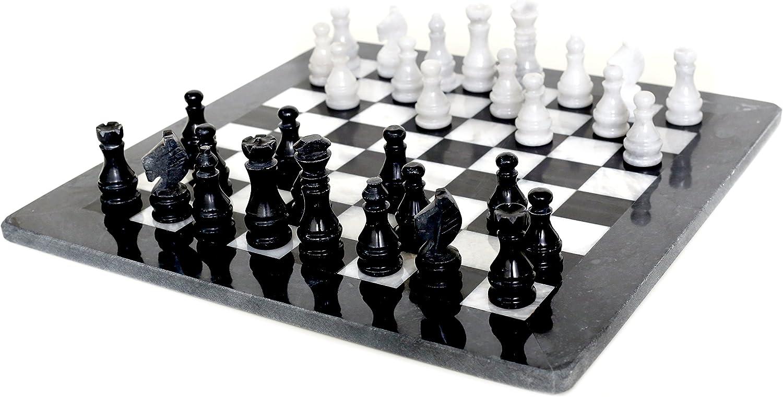 Radicaln Handmade schwarz & Weiß chess set 32 weighted chess pieces antique Onyx chess board set-Radicaln Handmade schwarz & Weiß Schachspiel 32 gewichtete Schachfiguren Antik Onyx Schachbrett-Set