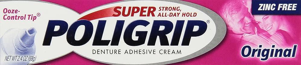 SUPER POLIGRIP Denture Adhesive Cream Original 2.40 oz