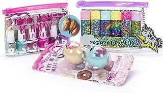 Tri-Coastal Design - Sugar Sweetie Girls Cosmetics Set de baño con bálsamos labiales perfumados para Niñas y kit de esmalt...