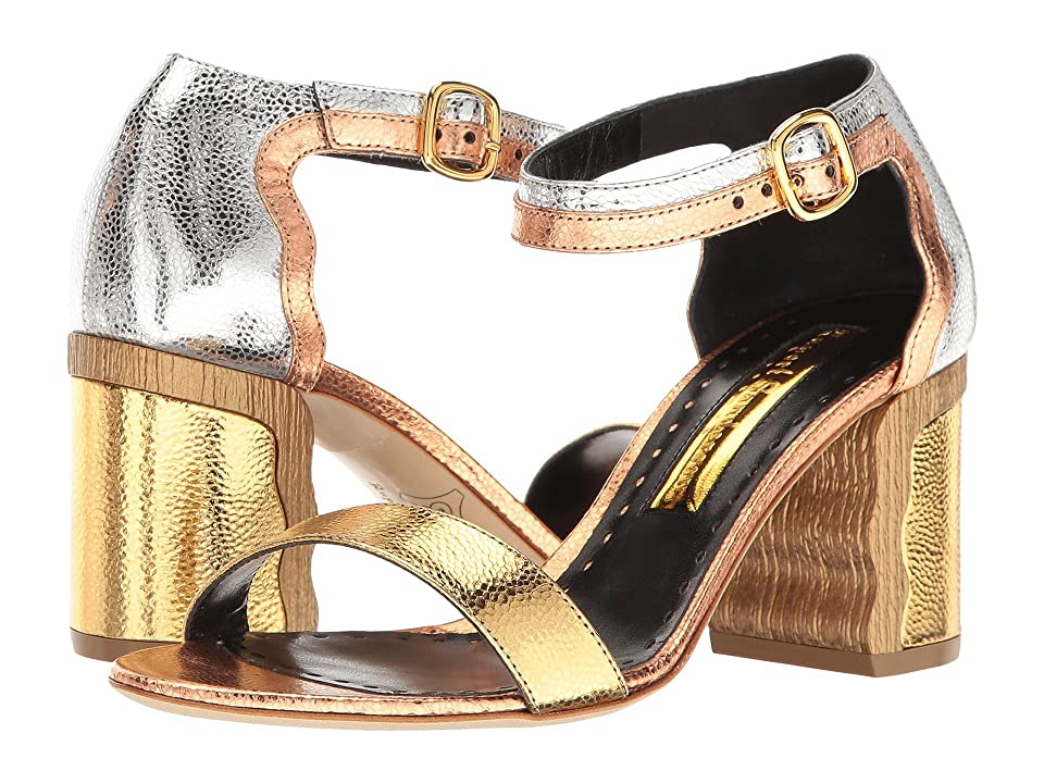 Rupert Sanderson Ripple (Gold/Silver/Bronze Metallic Grain Nappa) High Heels