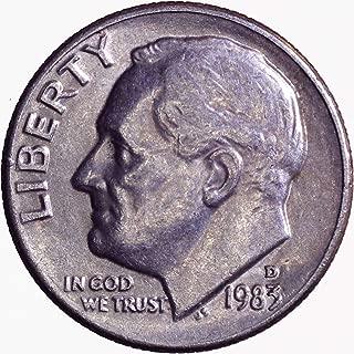 1983 D Roosevelt Dime 10C Brilliant Uncirculated