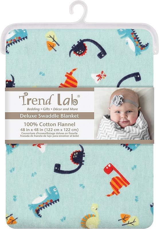 Trend Lab Dinosaurs Jumbo Deluxe Flannel Swaddle Blanket