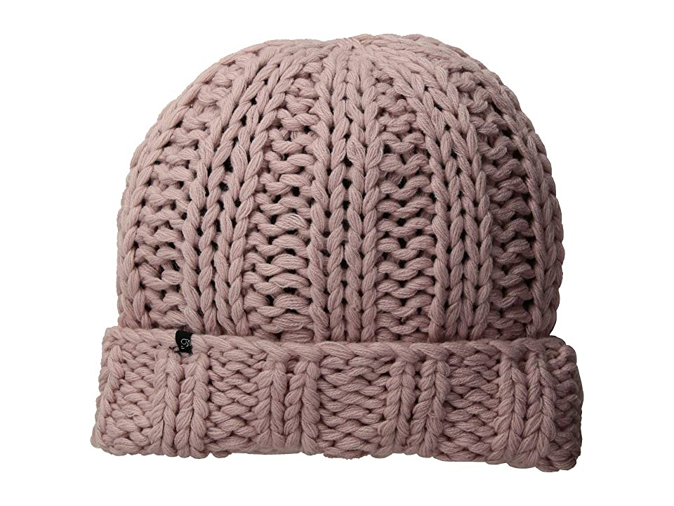 Plush Fleece-Lined Chunky Cuffed Beanie (Soft Pink) Beanies