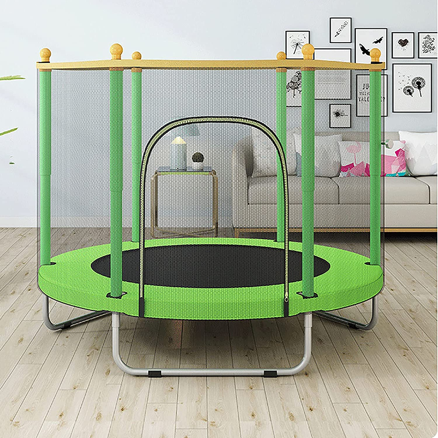 Free shipping anywhere in the nation YOGAA Outdoor Trampoline Popularity Kids Gardentrampoline Comp