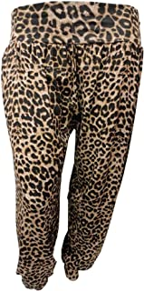Xclusive Collection Womens Plus Size Leopard Print Harem Trouser Animal Print Hareem Pants