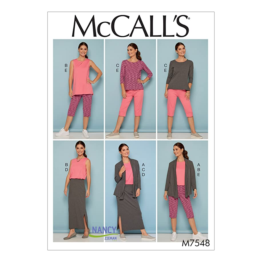 McCall's Sewing Pattern M7548 7548 Misses Sizes 8-16 Knit Wardrobe Jacket Tops Skirt Pants