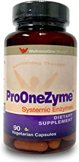 Pro-OneZyme Best Proteolytic Systemic Enzymes Supplement with Nattokinase & Seapose - Joint, Muscle, Digest...