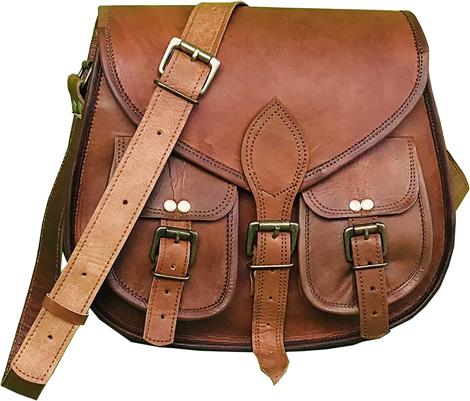 Leather Crossbody Purse for Women- Small Crossover Cross Body Bag Long Over the Shoulder Sling Womens Purses and Handbags