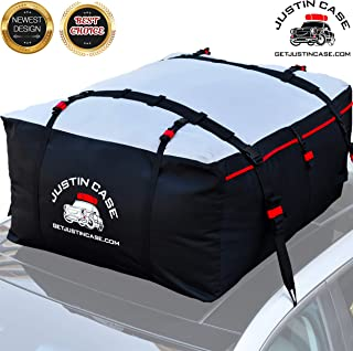 Roof Bag - Car Top Carrier - 19 Cubic Feet – Heavy Duty, Waterproof Rooftop Cargo Carrier Bag for Extra Car Roof Storage – Roof Bag Straps & Hooks Included, Works Without Roof Rack or Side Rails