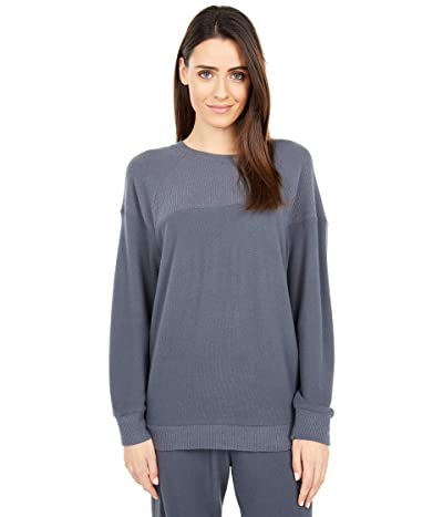 Eberjey Cozy Time The Combo Sweatshirt (Gunmetal) Women