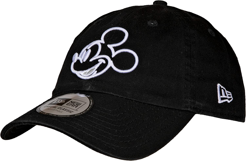 New Era Disney Mickey Mouse Head Outline 9Twenty Adjustable Dad Hat Black