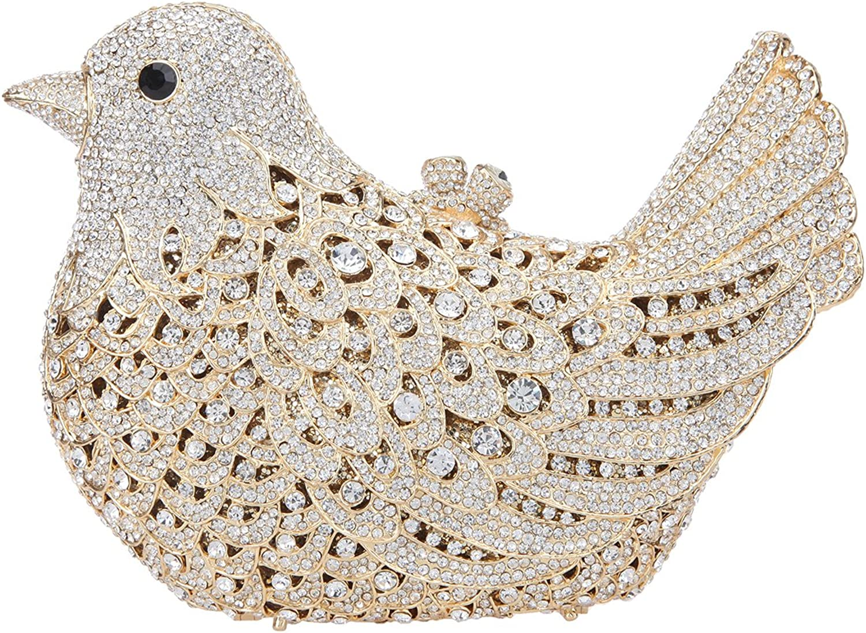 Ainemay Bonjanvye Bird Clutches and Purses for Women Crystal Evening Handbags