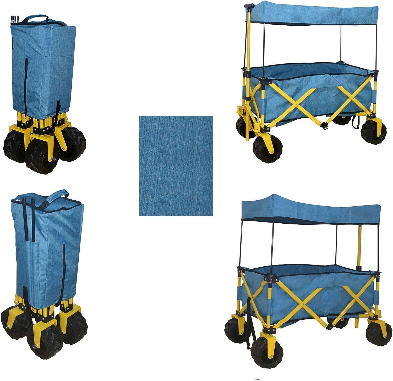 BLUE JUMBO WHEEL FOLDING WAGON SEAL limited product GARDEN UTILITY ALL quality assurance BEACH PURPOSE