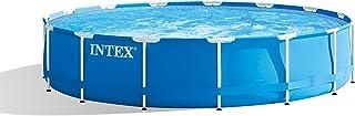 Intex Metal Frame Pool Set - Piscina, 457x 84cm, Color Azul