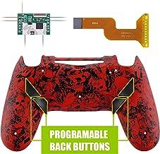 eXtremeRate Dawn Programable Remap Kit PS4 Scuf Reasignación de Botones para Playstaion 4 con Mod Chip&Carcasa Trasera&4 Botones Traseros Compatible con PS4 JDM 040/050/055(Demonio y Monstruo)