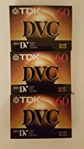 TDK Mini Digital Video Cassette (3 Pack Cassettes)