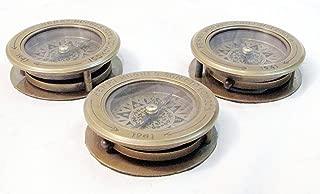 "Rare Vintage Nautical Compass 3/""~Henry Hughes Son London 1941~Desk Reading Lens."