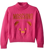 Sweater w/ Embroidered Toy Bear (Big Kids)